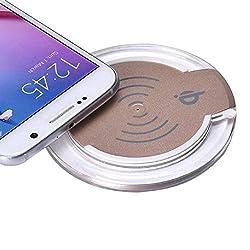Galaxy S7/S7 Edge Wireless Charger, Lookatool Qi Wireless Charger Charging Pad For Samsung Galaxy S7/S7 Edge (Gold)