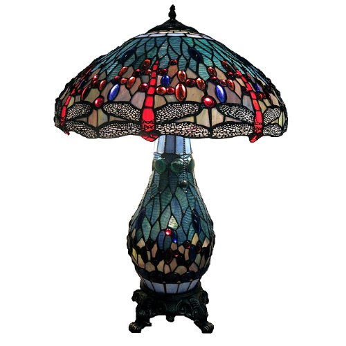 of tiffany 39 s t18275tgrb dragonfly tiffany style 26 inch table lamp. Black Bedroom Furniture Sets. Home Design Ideas