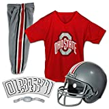 Franklin Sports NCAA Ohio State Buckeyes Deluxe Youth Team Uniform Set, Small