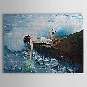 Ey dipinto a pittori di olio persone finanze in piedi con for Cabina di 300 piedi quadrati