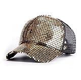 スパンコール 野球帽 キラキラ キャップ (スクリーンゴールド)