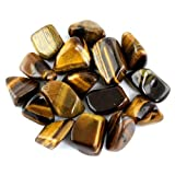 """Crystal Allies Materials: 1lb Bulk Tumbled Gold Tigers Eye Stones from South Africa - Large 1"""" Polished Natural Crystals for Reiki Crystal Healing *Wholesale Lot*"""