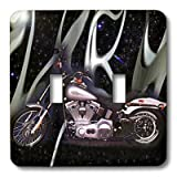 3dRose lsp_145_2 Light Switch Cover Picturing Harley-Davidson® Motorcycle
