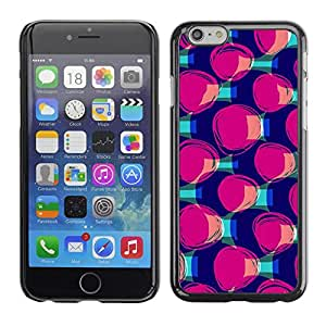 Omega Covers - Snap on Hard Back Case Cover Shell FOR Iphone 6/6S (4.7 INCH) - Purple Teal Pattern Fashion