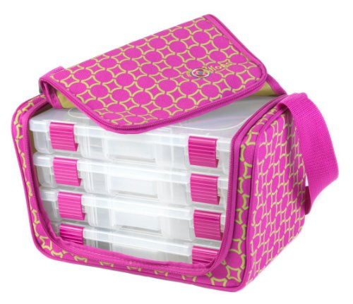 Portable Craft Storage : Craft organizer portable pouch shoulder tote storage boxes