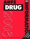 img - for Ahfs Drug Information 2003 book / textbook / text book