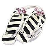 51E3G5brJaL. SL160  Melody handbag table Hook hanger foldup holder  shoe design crystal embended