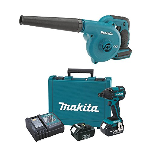 Makita 18-Volt LXT Lithium-Ion Impact Driver Kit + Cordless Workshop Blower (Makita Blower Kit compare prices)