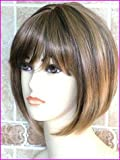 Forever Young Short Honey Blonde with Hints of Dark Brown Mix Number 27CTL4 Ladies Classy Bob Central Parting and Full Fringe Wig