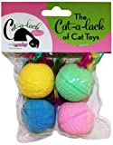 Cat-A-Lack 4-Piece Spongeballs with Feathers for Pets