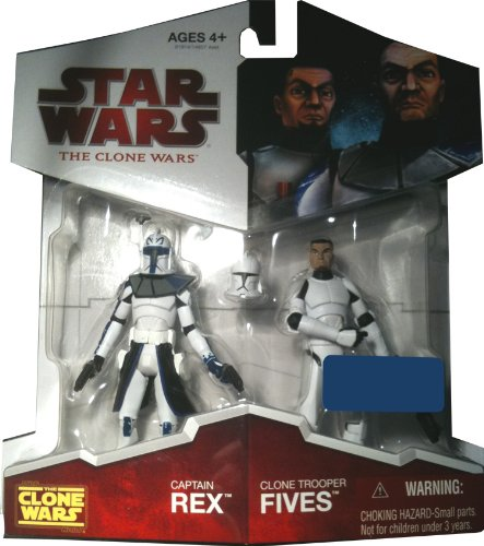 Buy Low Price Hasbro Star Wars 2009 Clone Wars Animated Exclusive Action Figure 2-Pack Captain Rex and Clone Trooper Fives (B002O6F8Z0)