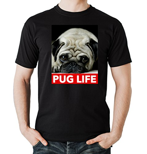 Pug Life T-Shirt Nero-XL