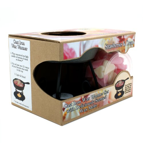 Bright Ideas Candle Wax Warmer Gift Pack, Strawberry Cream (Cast Iron Tart Warmer compare prices)