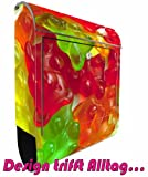 Design motif mailbox stainless steel Maxi Large gummy bears