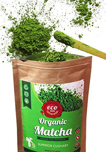 Matcha Green Tea Powder - Superior Culinary - USDA Organic From Japan -Natural Energy & Focus Booster Packed With Antioxidants. Matcha Tea For Mixing In Lattes, Smoothies & Baking. By eco heed 1.05oz (Matcha Organic Green Tea Powder compare prices)