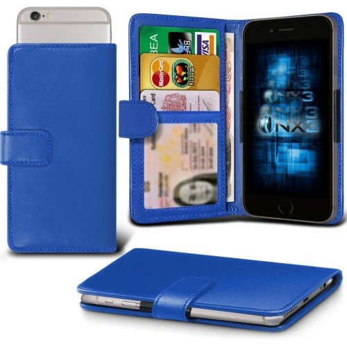Samsung Galaxy J1 Ace Adjustable Spring Wallet ID Card Holder Case Cover (Blue) Plus Free Gift, Screen Protector and a Stylus Pen, Order Now Best Valued Phone Case on Amazon! By FinestPhoneCases (Samsung Ace 2x compare prices)