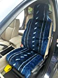 Daihatsu Sirion / Grand Move / Terios 2 Car Seat Covers In Navy Blue Fur - 2 Fronts Only