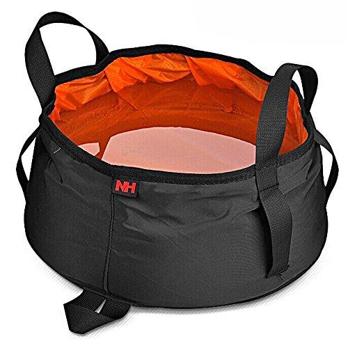 NatureHike 8.5L Outdoor Camping bewegliche Klapp Waschbecken Eimer Reisetasche Outdoor faltbare Water Basin Waschbecken (Orange)