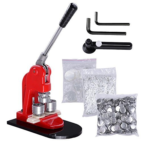 Mophorn Button Maker 1Inch 25mm Button Badge Maker Badge Press Button Maker Machine with 1000 Pcs Free Button Parts and Circle Cutter (1000 PCS)