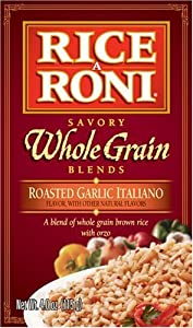 Rice a Roni Savory Whole Grain Blend Roasted Garlic Italiano, 4-Ounce Boxes (Pack of 12)