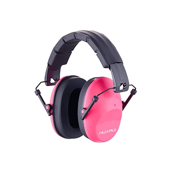 Noise Cancelling Ear Muffs HUARUI, Adjustable Shooting Ear Muffs,Shooters Ear Protection Safety Ear Muffs, Lightweight Ear Muffs Noise Protection, Ear Muffs for Shooting Hunting (Pink) (Color: Pink)