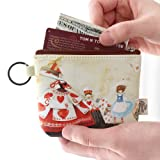 #8: Women Canvas Wallet Small Clutch Zip Card Coin Purse Key Holder Handbag Pouch Pack of 1 Color & Design May Vary As Per Availability (With Free Token)