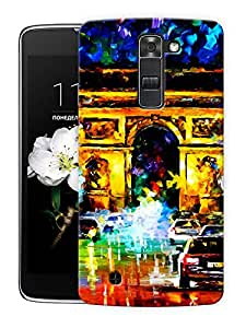 "India Gate Scenery Printed Designer Mobile Back Cover For ""LG K10"" By Humor Gang (3D, Matte Finish, Premium Quality, Protective Snap On Slim Hard Phone Case, Multi Color)"
