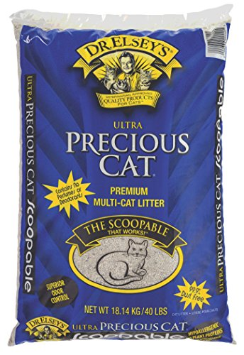 Precious Cat Ultra Premium Clumping Cat Litter, 40 pound bag (Amazon Cat Litter compare prices)
