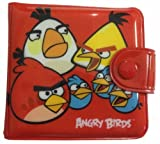 Angry Birds Bifold Slim Coin Pouch, Purse Wallet 2 Fold, Card Phone Case Bag for kids (Red) No.1