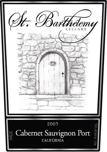 2003 St. Barthelemy Cellars Cabernet Sauvignon Port 375 Ml