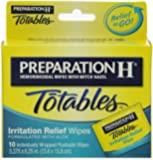 Preparation H Wipes, Totables, 10 Count