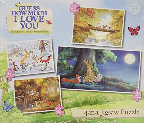 Paul Lamond 4-in-1 Guess How Much I Love You Puzzle - 1