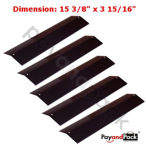 92311 (5-Pack) Gas Grill Replacement Parts Porcelain Steel Heat Plate For Aussie, Grill King, Charmglow, Brinkmann, Uniflame, Lowes Model Grills