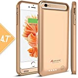 iPhone 6S Battery Case, iPhone 6 Battery Case, Alpatronix® [BX140] MFi Apple Certified 3100mAh External iPhone 6S/6 Battery Case Removable Rechargeable Protective iPhone 6s/6 Charging Case [Ultra Slim Portable iPhone6 Charger Case / Full Support with iOS 9+ & Apple Pay / iPhone6s Extended Battery Case / Lightning Connector Output / No Signal Reduction / Fits all colors for iPhone6S for Juice Bank & Power Pack] 100% Satisfaction Guaranteed! - (Gold with 1 Extra Bumper)