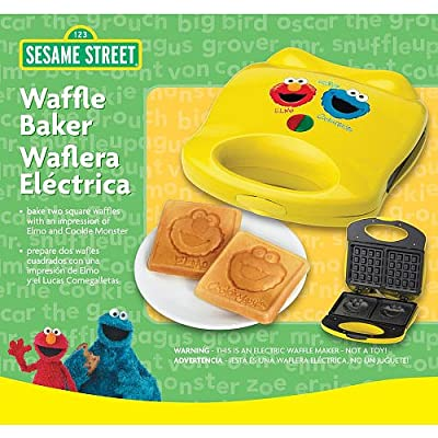 Sesame Street Waffle Maker with Elmo and Cookie Monster from Formula Brands