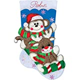 Tobin Sock Monkey Stocking Felt Applique Kit, 18-Inch Long