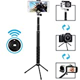 MAONO Selfie Stick with Bluetooth Remote and Tripod, Portable Waterproof Monopod for GoPro, iPhone 7/7 Plus/6 Plus/6S Plus Samsung Galaxy Series, SLR