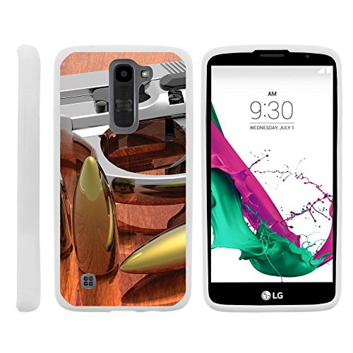 Case for LG Escape 3, Slim Glove like Skin with American Gun Collection [LG K8] by Miniturtle® - Gun and Ammo