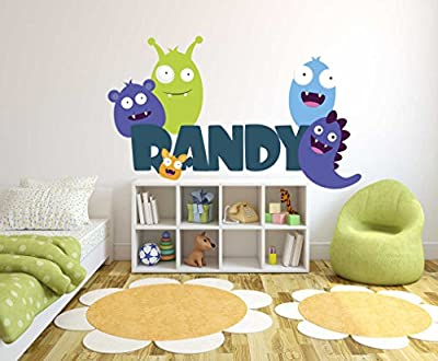 Personalized Muppet Monster Theme - Personalized Boy Girl Mural - Baby's Mural Room Vinyl Sticker Wall Decal