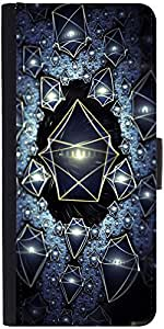 Snoogg Translucent Cuboids 2724 Designer Protective Phone Flip Case Cover For Samsung Galaxy J7