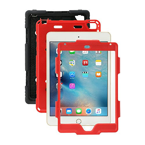 Ipad Mini 4 Case, Aceguarder [New Hot] Outdoor Water proof Shock proof Rain proof Dirt proof Cover Case with Ipad Mini 4 (Black Red) (Chicken Ipad Mini Case compare prices)