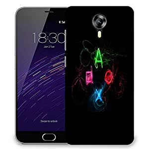 Snoogg Neon Playstation Buttons Designer Protective Phone Back Case Cover For Meizu M2