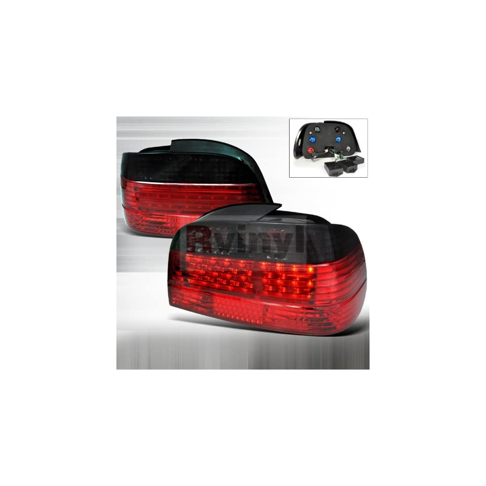 BMW E38 7 Series 750iL 740iL 740i 1995 1996 1997 1998 1999 2000 2001 Fiber Optic LED Tail Lights   Red Smoke