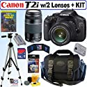 Canon EOS Rebel T2i - Digital camera - SLR - 18.0 Mpix - Canon EF-S 18-55mm IS lens - optical zoom: 3 x - supported memory: SD, SDXC, SDHC