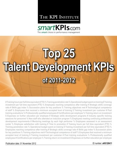 Top 25 Talent Development KPIs of 2011-2012 (Talent Development Platform compare prices)