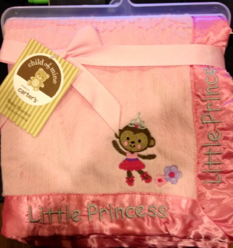 Ballerina Monkey 2-Ply Ribbed Valboa Blanket Child of Mine by Carter's - 1