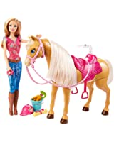 Barbie - BJX85 - Poupée - Barbie Etson Cheval Tawny