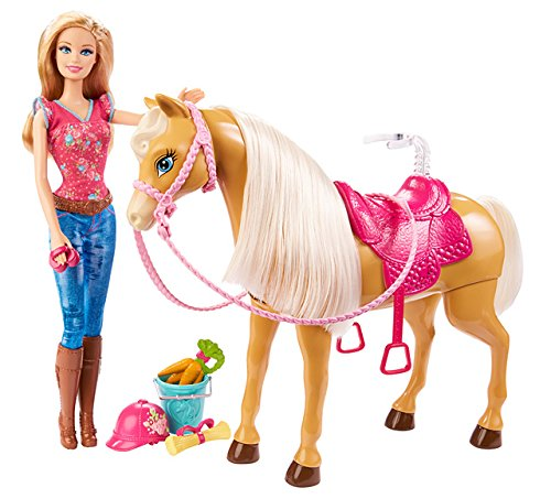 Barbie Cuddle Tawny Horse Playset