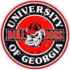 Buy Georgia Bulldogs 12 Inch Embossed Metal Nostalgia Circular Sign by Tag City
