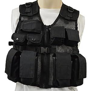 Nitehawk Kids/Childrens Black Tactical Combat Assault Vest Army Military Police